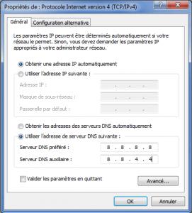 configuration serveur DNS