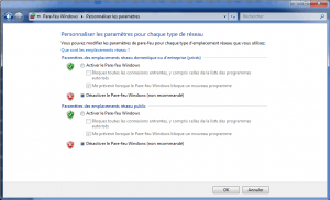 Désactiver le pare-feu Windows defender