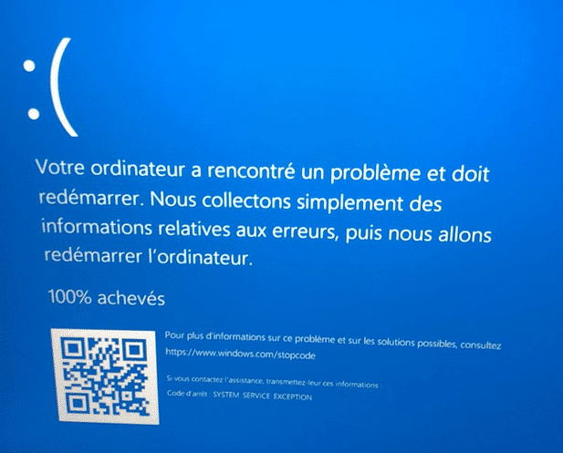 erreur SYSTEM_SERVICE_EXCEPTION