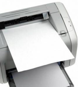 L'imprimante sort des pages blanches