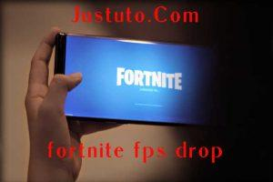 Drop FPS Fortnite